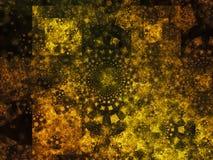 Diseño vibrante digital de la salpicadura de la creatividad del universo de la galaxia de la abstracción del fractal foto de archivo libre de regalías