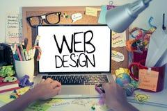 Diseño web Foto de archivo libre de regalías