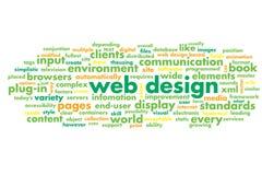 Diseño web Fotos de archivo