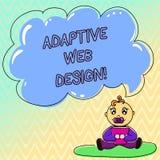 Diseño web adaptante del texto de la escritura El concepto que significa versiones múltiples de una página web para caber al usua ilustración del vector