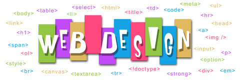Diseño web colorido Foto de archivo