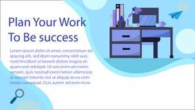 Diseño web con el ejemplo del espacio de trabajo libre illustration