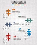 Diseño web de Infographics con rompecabezas Vector Fotos de archivo