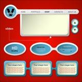 Diseño web para el Web site Imagenes de archivo