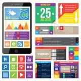 Diseño web plano Foto de archivo libre de regalías
