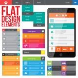 Diseño web plano Imagenes de archivo
