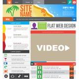 Diseño web plano Imagen de archivo