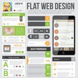 Diseño web plano Imágenes de archivo libres de regalías