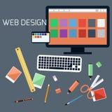 Diseño web Programa para el diseño y la arquitectura Imagen de archivo libre de regalías