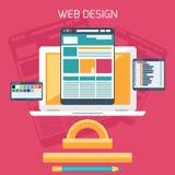 Diseño web Programa para el diseño y la arquitectura Foto de archivo libre de regalías