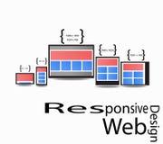 Diseño web responsivo Fotos de archivo libres de regalías