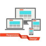 Diseño web responsivo ilustración del vector