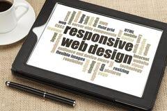 Diseño web responsivo Foto de archivo