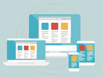 Diseño web responsivo Fotografía de archivo