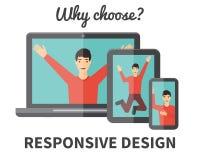 Diseño web responsivo Fotos de archivo