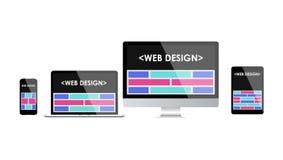 Diseño web responsivo Interfaz de usuario adaptante Fotos de archivo