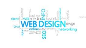 Diseño web, tipografía animada stock de ilustración
