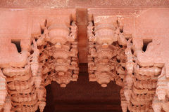 Diseño y arquitectura complejos en Jahangir Palac Fotos de archivo libres de regalías