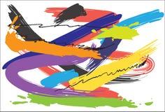 Diseño y cepillo del arte del fondo Imagen de archivo