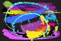 Diseño y cepillo del arte del fondo Foto de archivo libre de regalías