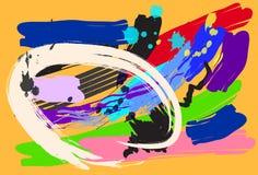 Diseño y cepillo del arte del fondo Imágenes de archivo libres de regalías