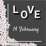 Diseño y ejemplo felices de tarjeta del fondo del vector del día de San Valentín Imagenes de archivo
