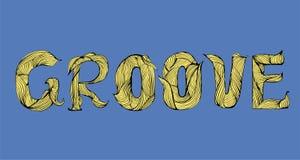 Diseño y estilo de motivación de la palabra del surco stock de ilustración