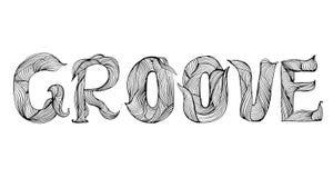 Diseño y estilo de motivación de la palabra del surco ilustración del vector