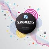 Diseño y parte posterior geométricos coloridos abstractos del modelo del círculo de color Imagenes de archivo