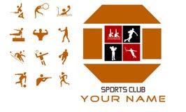 Diseño y prima de concepto del club de deportes Fotografía de archivo libre de regalías