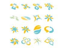 Diseños abstractos de la insignia del vector Fotos de archivo