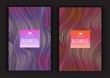 Diseños abstractos del folleto Fotografía de archivo