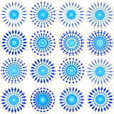Diseños azules Foto de archivo