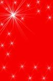Diseños blancos de la estrella en fondo vertical rojo Fotos de archivo libres de regalías
