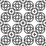 Diseños blancos negros de la repetición del vector Fotos de archivo