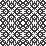 Diseños blancos negros de la repetición del vector Foto de archivo libre de regalías