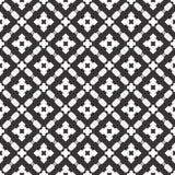 Diseños blancos negros de la repetición del vector Foto de archivo