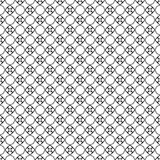 Diseños blancos negros de la repetición del vector Fotografía de archivo