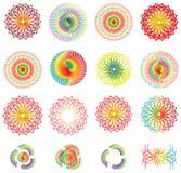 Diseños coloridos del gradiente Imágenes de archivo libres de regalías