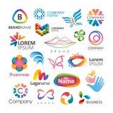 Diseños coloridos del logotipo Fotos de archivo libres de regalías
