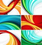 Diseños coloridos del modelo del remolino Fotos de archivo