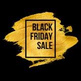 Diseños de Black Friday en gota del oro Vector Fotografía de archivo
