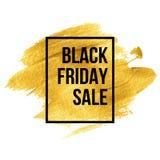 Diseños de Black Friday en gota del oro Vector Imagen de archivo