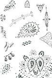 Diseños de la alheña Imágenes de archivo libres de regalías
