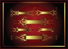 Diseños de la bandera con el marco Foto de archivo libre de regalías