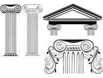 Diseños de la columna Imágenes de archivo libres de regalías