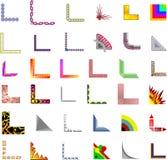 Diseños de la esquina/de la frontera del vector 35+ Fotos de archivo