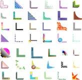 diseños de la esquina/de la frontera del vector 42x Imagenes de archivo