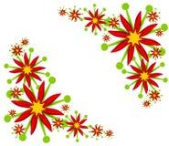 Diseños de la esquina del Poinsettia Imágenes de archivo libres de regalías