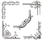 Diseños de la esquina exquisitos del Ornamental Imágenes de archivo libres de regalías
